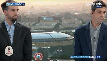Ενός λεπτού σιγή σε εκπομπή της Αργεντινής μετά τη συντριβή από την Κροατία (video)