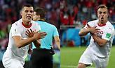 Τα γκολ των Τσάκα-Σακίρι και οι πανηγυρισμοί με τον αλβανικό αετό (video)