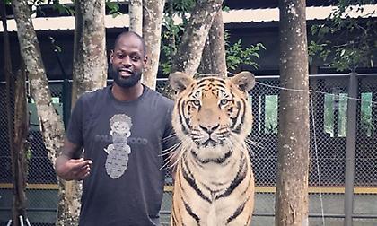 Ο Γκιστ ποζάρει με τίγρη (pic)