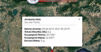 Σεισμός 4,2 ρίχτερ στη Θεσσαλονίκη