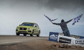 H Bentley Bentayga σπάει το ρεκόρ των SUV στο Pikes Peak