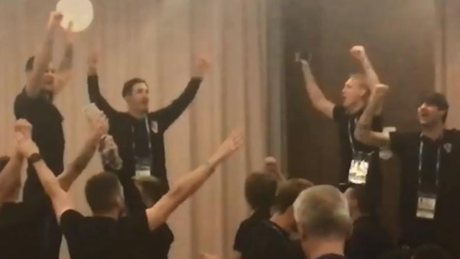 Ξεσήκωσαν το ξενοδοχείο οι Κροάτες παίκτες (video)