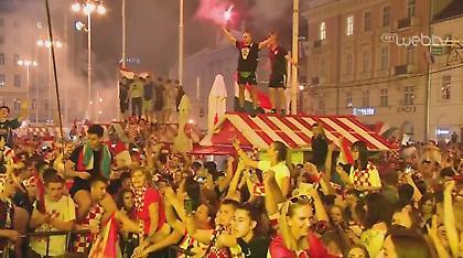 «Κάηκε» η Κροατία με την πρόκριση στα ημιτελικά του Μουντιάλ (video)