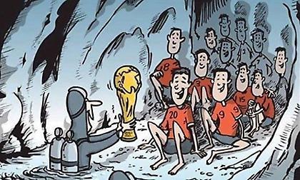 Η FIFA στέλνει στον τελικό του Μουντιάλ τα παιδιά που εγκλωβίστηκαν σε σπήλαιο στην Ταϊλάνδη