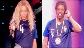 Με φανέλες Γαλλίας στη συναυλία τους Beyonce και Jay-Z (pics)