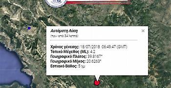 Σεισμός 4,2 ρίχτερ στα Ιωάννινα
