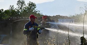 Φωτιά έχει ξεσπάσει στην περιοχή Μονομάτι Αχαρνών