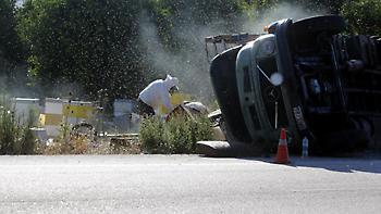 Ψαράς πέθανε στην Εύβοια από τσιμπήματα μελισσών - Έφυγαν λόγω τροχαίου