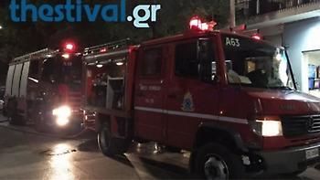 Θεσσαλονίκη: Φωτιά σε άδειο κτίριο στη δυτική είσοδο