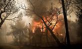 Μεγάλη φωτιά στην Κινέτα - Καίγονται σπίτια
