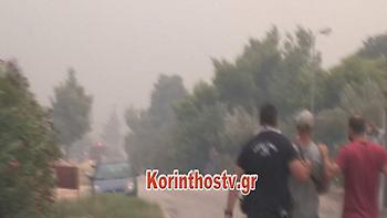 Προσαγωγή υπόπτου για τη μεγάλη φωτιά στην Κινέτα (video)