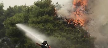Ανεξέλεγκτη η φωτιά στην Καλλιτεχνούπολη: Κατευθύνεται στον Ν. Βουτζά -Καίγονται σπίτια