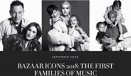Διάσημοι τραγουδιστές ποζάρουν με τα παιδιά τους για το «Harper's Bazaar» (pics)