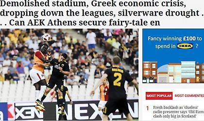 Αφιέρωμα της Herald στην ΑΕΚ: «Ελληνικό παραμύθι με άγνωστη κατάληξη»