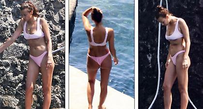 Η Ιρίνα Σάικ με το ροζ μπικίνι της έκανε... χαμό (pics)