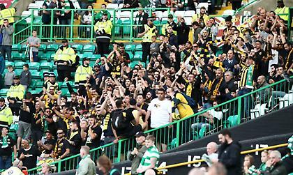 Η κιτρινόμαυρη εξέδρα στο Celtic Park (pics)