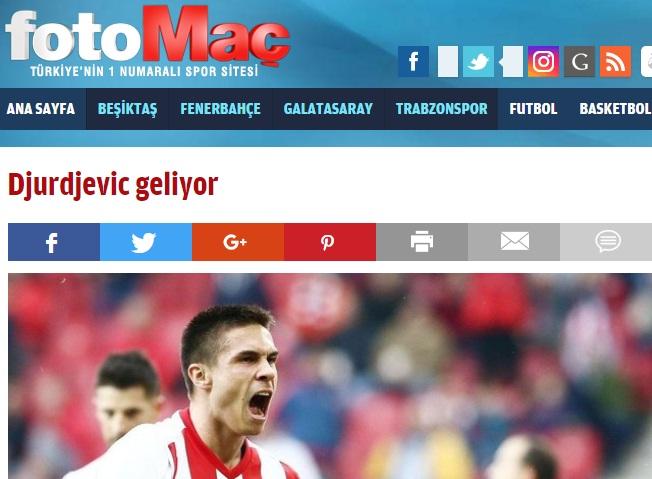 «Πάει δανεικός από Ολυμπιακό σε Ρίζεσπορ ο Τζούρτζεβιτς»