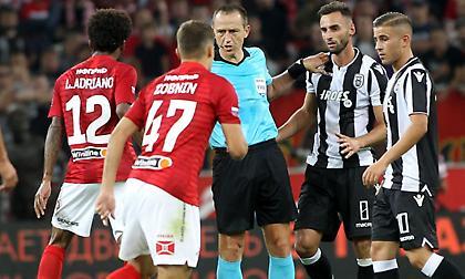 Η παρακάμερα της Σπαρτάκ δικαιώνει τον διαιτητή για την κόκκινη στον Λουίς Αντριάνο (video)