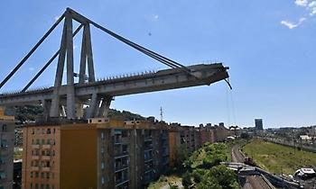 Ιταλία: Βίντεο με επτάψυχη γάτα τη στιγμή που καταρρέει η γέφυρα Μοράντι