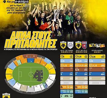 Εισιτήρια από 5 ευρώ στο ΑΕΚ-ΠΑΣ Γιάννινα!