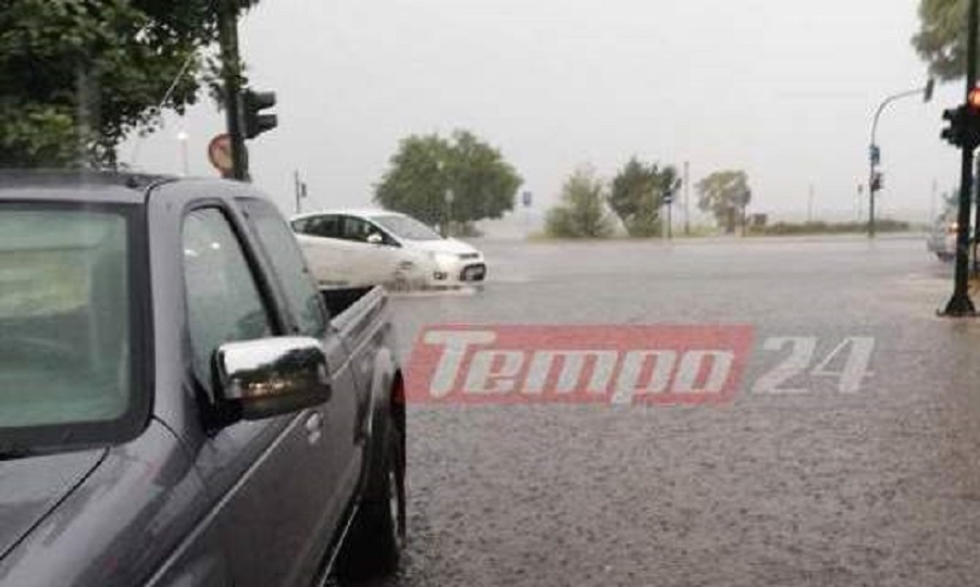 Κατακλυσμός στην Πάτρα: Λίμνες οι δρόμοι, προβλήματα ηλεκτροδότησης (pics)