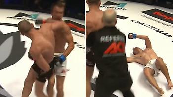 Τρομακτικό KO με αγκώνα σε αγώνα ΜΜΑ στη Ρωσία (video)
