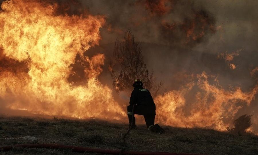 Μεγάλη πυρκαγιά στην περιοχή Καπελέτο της Ανδραβίδας