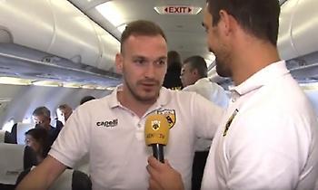 Το ταξίδι της ΑΕΚ στα... αστέρια και ο «ρεπόρτερ» Λυμπερόπουλος (video)