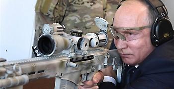Ελεύθερος σκοπευτής ο Πούτιν με το νέο καλάσνικοφ (video)