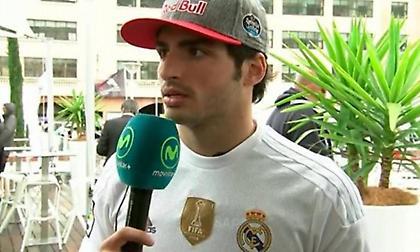 Κάρλος Σάινθ: «Του χρόνου θα βάλω στο κράνος μου το σήμα της Ρεάλ Μαδρίτης»