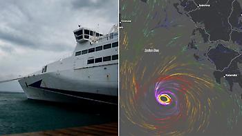 Καιρός: Ο «Ξενοφών» απειλεί με μεσογειακό κυκλώνα 12 μποφόρ το νότιο Ιόνιο