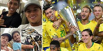 Οι παίκτες της Βραζιλίας... ποζάρουν στα social μετά τη νίκη επί της Αργεντινής