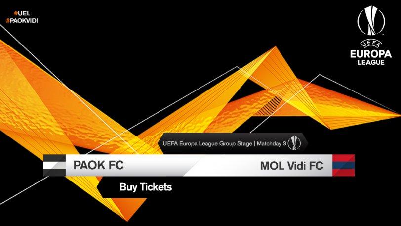 Τη Δευτέρα τα εισιτήρια του ΠΑΟΚ με τη Βίντι