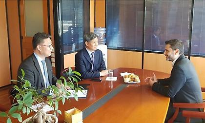 Συνάντηση Νίκου Θωμαΐδη με τον Πρέσβη της Κορέας στην Ελλάδα