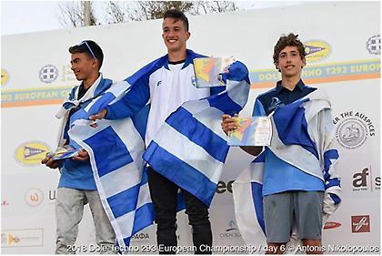 Χρυσό μετάλλιο στην κατηγορία TECHNO 293 στο ευρωπαϊκό πρωτάθλημα ιστιοσανίδας ο Καλπογιαννάκης