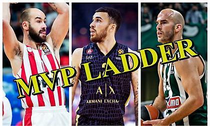 EuroLeague MVP Ladder: Τα 10 ονόματα που έχουν ξεχωρίσει!