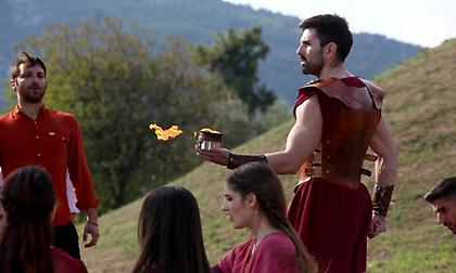 H τελετή αφής της φλόγας του Μαραθωνίου (pics/video)