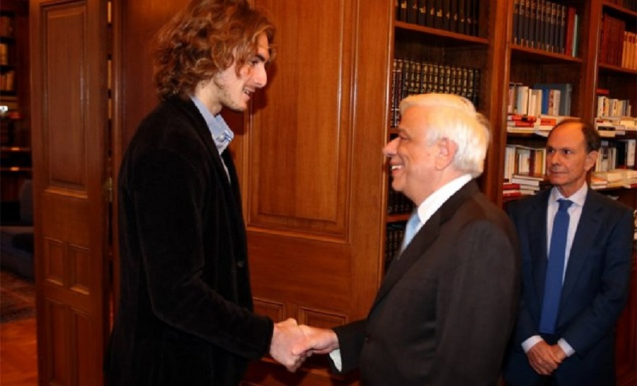 Συνάντηση με τον Πρόεδρο της Δημοκρατίας είχε ο Στέφανος Τσιτσιπάς (vid)