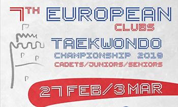 Tάε Κβο Ντο: Στη Θεσσαλονίκη το Ευρωπαϊκό Πρωτάθλημα Συλλόγων 2019, στην Αθήνα το Greece Open 2019
