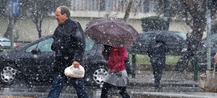 Στους 14 βαθμούς η θερμοκρασία σήμερα - Χιόνια και βροχές