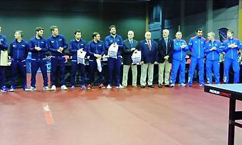 Περήφανη νίκη επί της Ρωσίας οι άνδρες και πρόκριση στο Ευρωπαϊκό Πρωτάθλημα πινγκ πονγκ