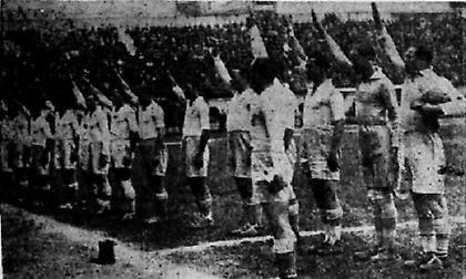 1932: O… ρωμαϊκός χαιρετισμός των Ελλήνων διεθνών