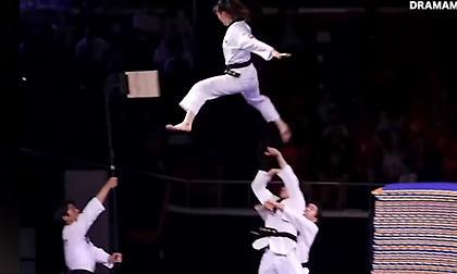Φαντασμαγορικό θέαμα» από την ομάδα Taekwondo της Νότιας Κορέας
