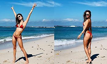 Ποιο κρύο; Η Αλεσάντρα Αμπρόζιο φέρνει «καύσωνα» (pics)