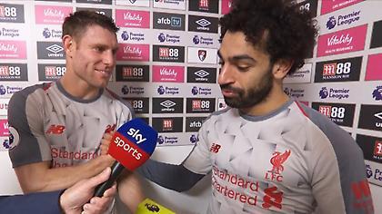 Ο Σαλάχ πήρε το βραβείο του man of the match και το έδωσε στον Μίλνερ (video)