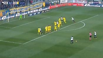 Απίστευτο γκολ με φάουλ απέναντι στον Σορεντίνο ο Μπρούνο Άλβες