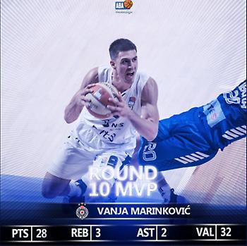 Μαρίνκοβιτς MVP της αγωνιστικής στην ΑΒΑ (video)