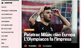 Gazzetta dello Sport: «Πατατράκ η Μίλαν, ο Ολυμπιακός έκανε την έκπληξη»