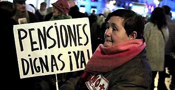 Για αξιοπρεπείς συντάξεις διαδηλώνουν οι Ισπανοί