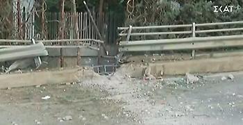 ΣΚΑΪ: Βομβαρδισμένο τοπίο – O κρατήρας της ισχυρής έκρηξης (video)
